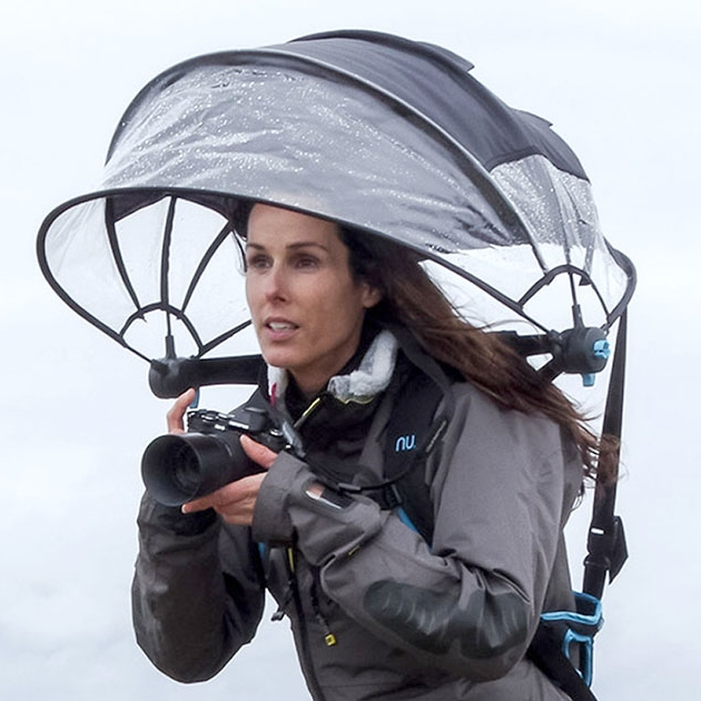 Необычный зонт-шлем