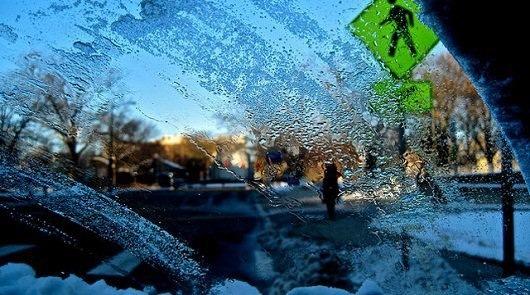 Замерзла жидкость в мороз -25