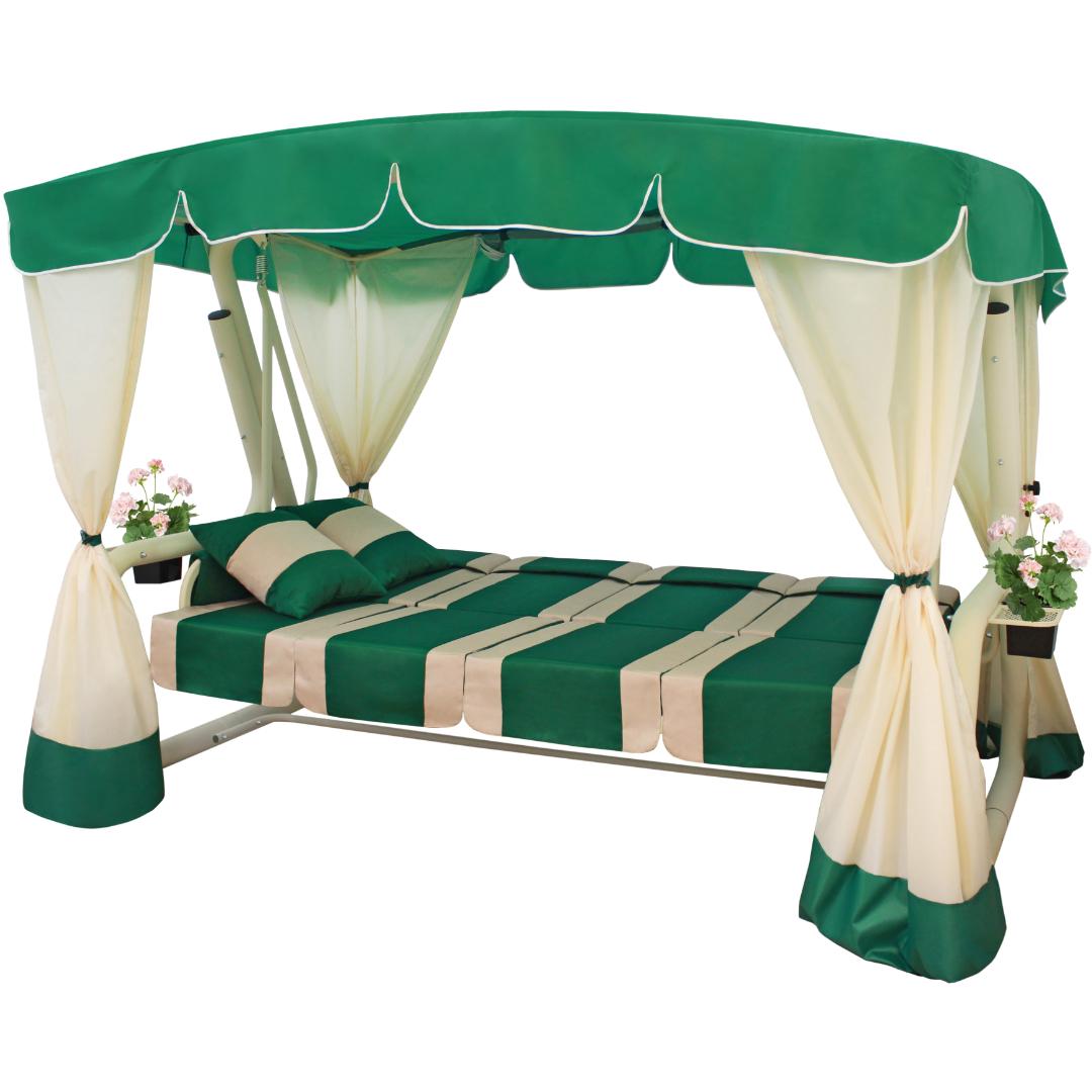 Эдем Люкс зеленый1 кровать