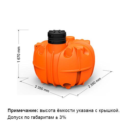 Подземная емкость на 5000 литров