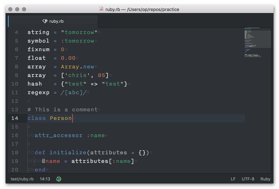 Пример кода на Ruby