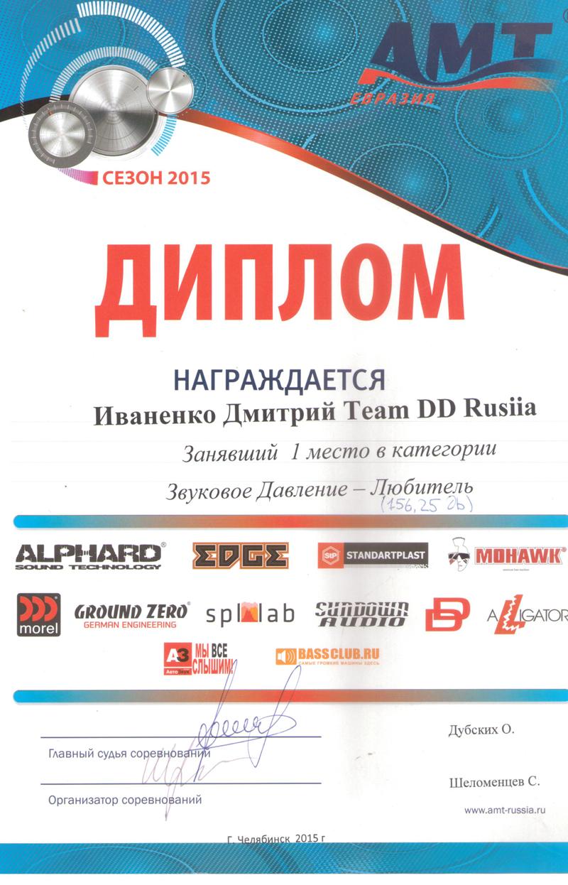 1 место АМТ Челябинск 2015г