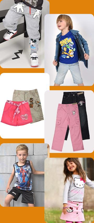 Детские брюки, шорты, юбки
