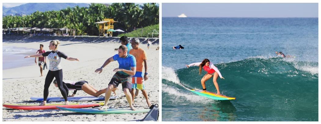 Уроки серфинга в Мексике
