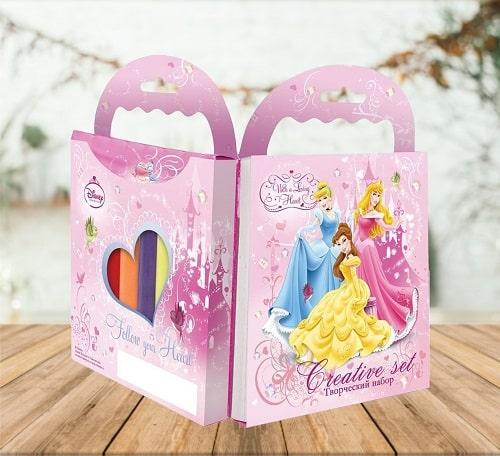 Раскраска с карандашами - набор Принцессы