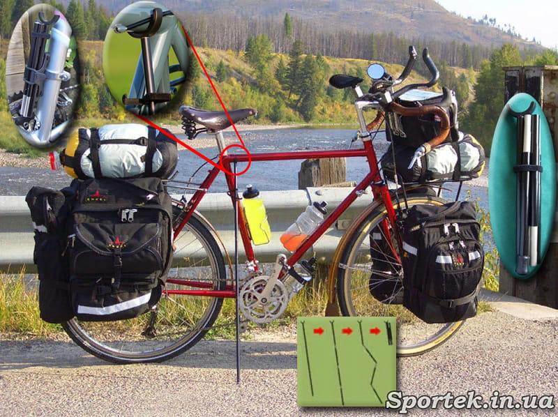Складная подставка для велосипеда