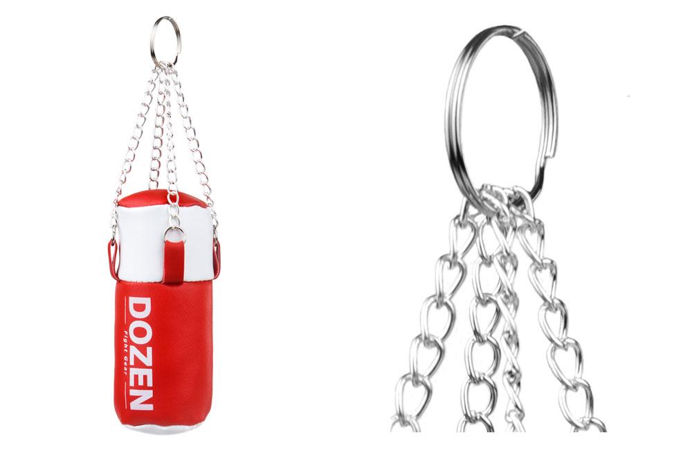 Брелок мини-мешок Dozen Light красный конструкция