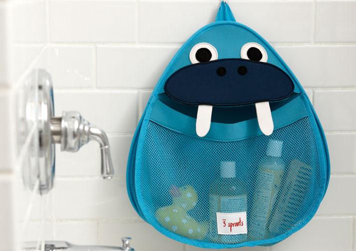 В детских органайзерах 3Spourts для ванной комнаты можно надёжно хранить детские купальные принадлежности.