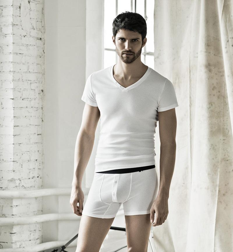 мужское белье HOM Victor Boxer White белые