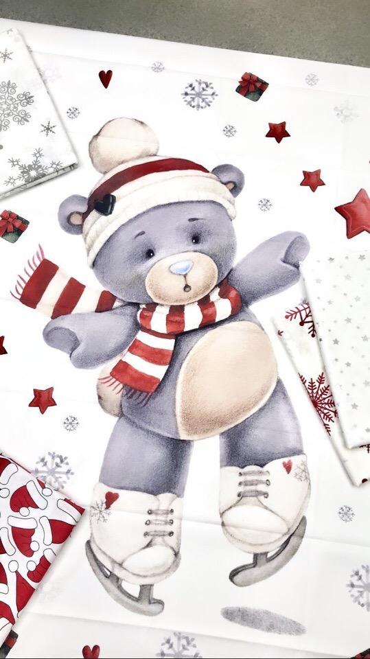Новогодние тканевые купоны для детского постельного белья