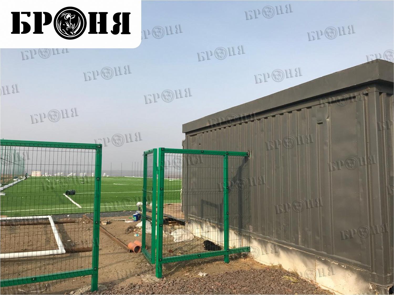 Ростовская область. Утепление помещений футбольного клуба, выполненных из 40-футовых контейнеров.
