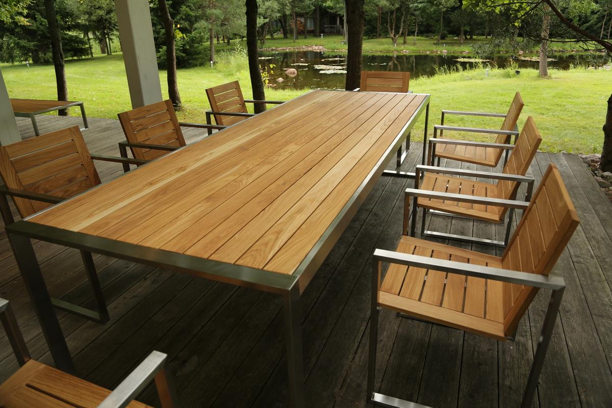 Производство садовой мебели из металла и дерева