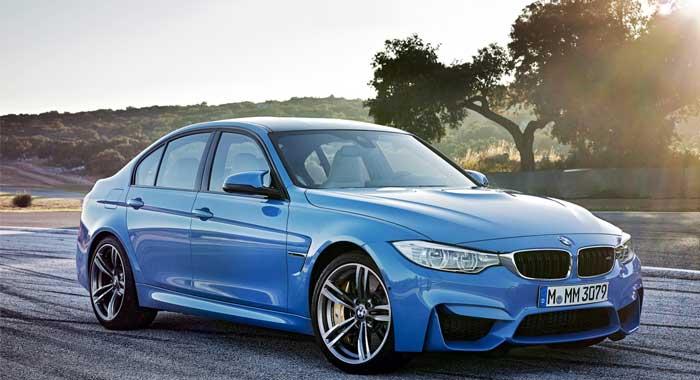 В профиле BMW M3 выделяются фирменные колесные диски 18 дюймов в расклешенных колесных арках