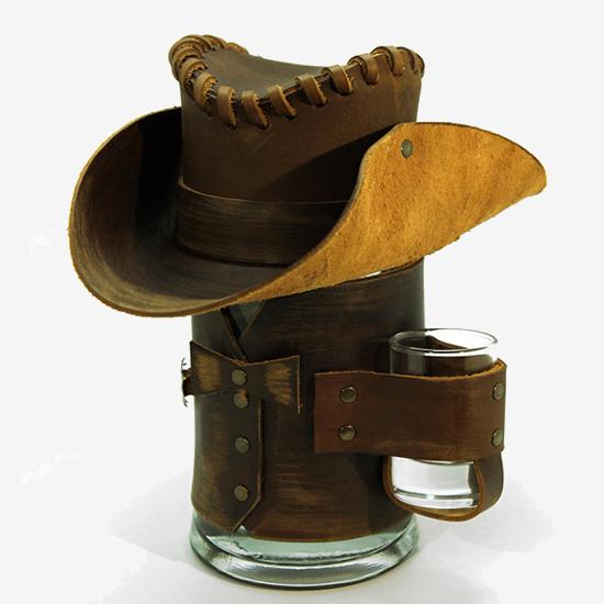 Сувенирная кружка Шериф, коричневая