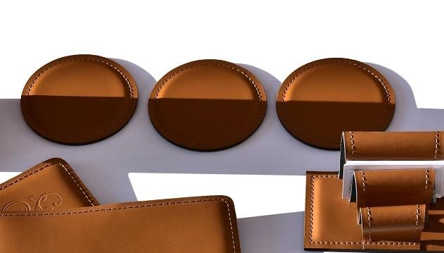 костеры кожаные цвет табак