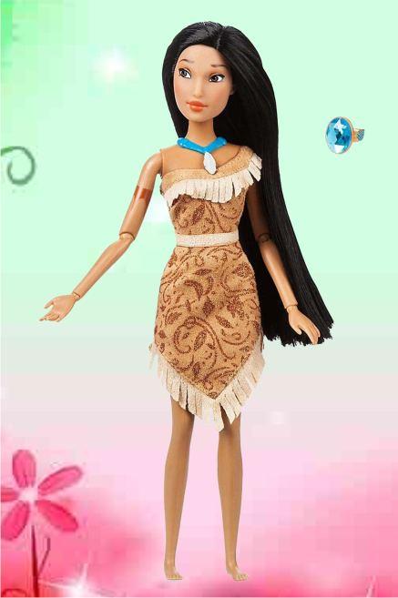 Кукла Покахонтас с кольцом