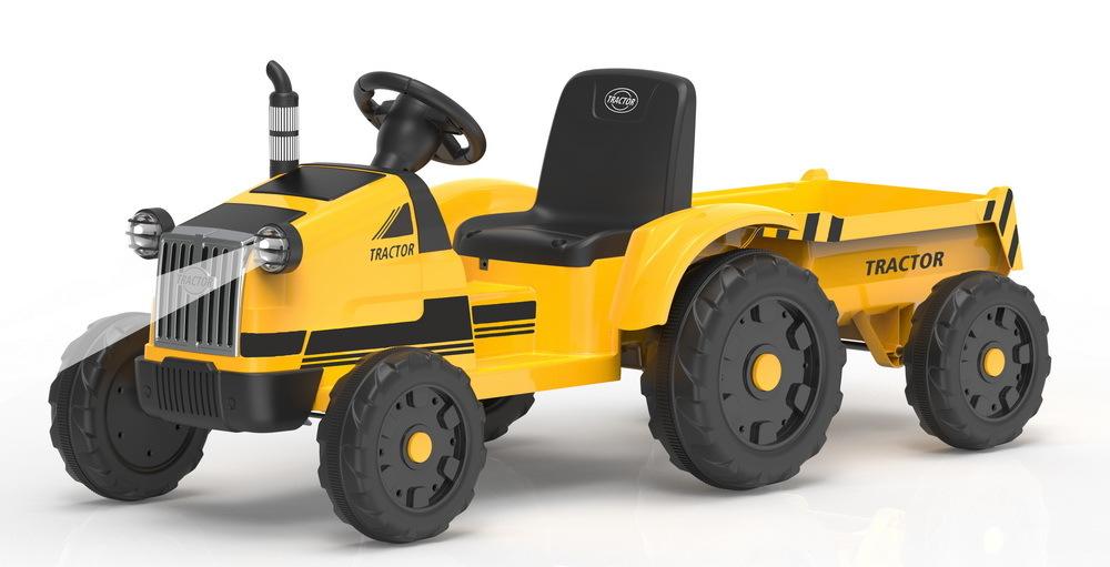 Детский трактор с проицепом