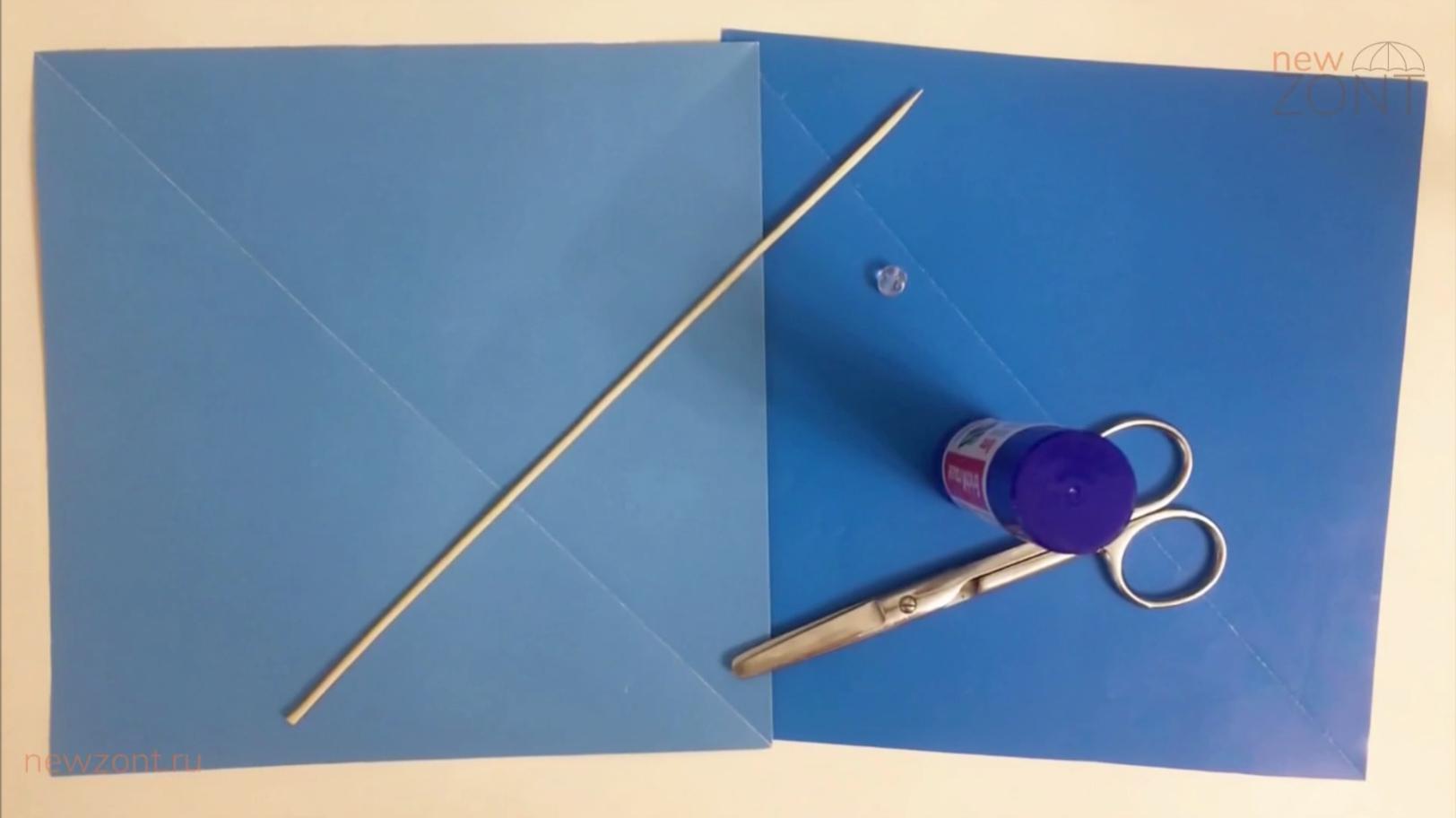 Как сделать зонт из бумаги