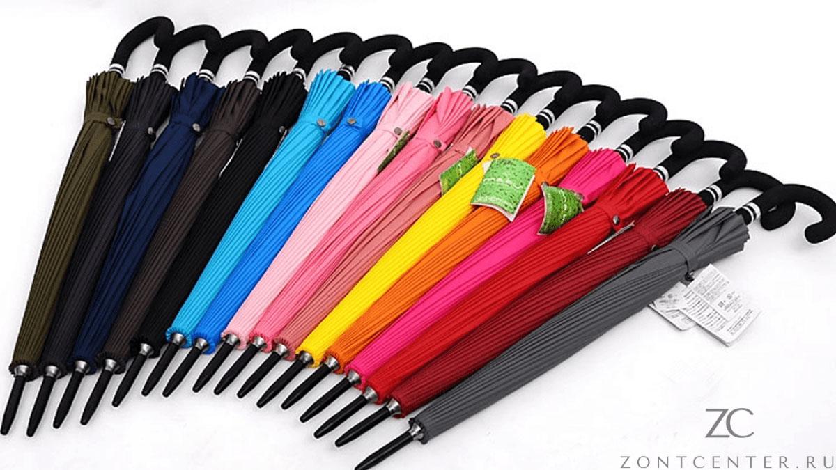 Зонт трость розовый 24 спицы   ZC Mabu