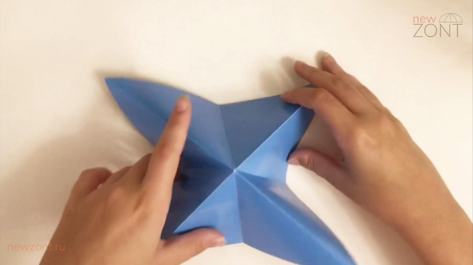 Как сделать зонтик из бумаги