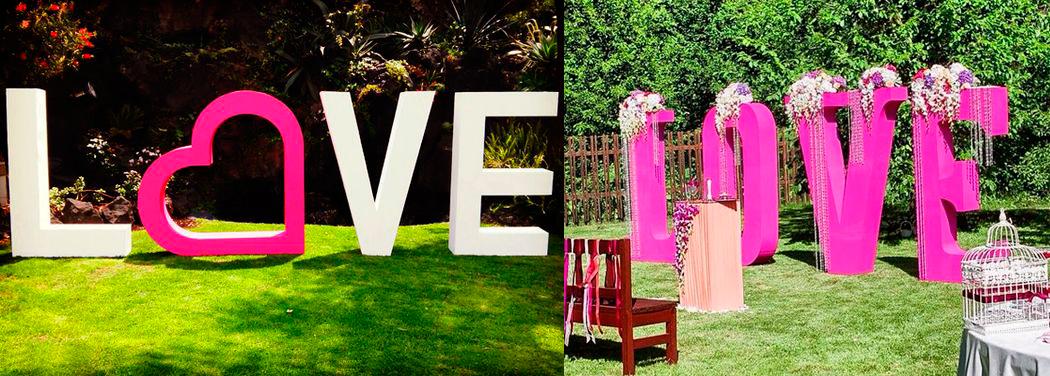 LOVE надпись из пенопласта