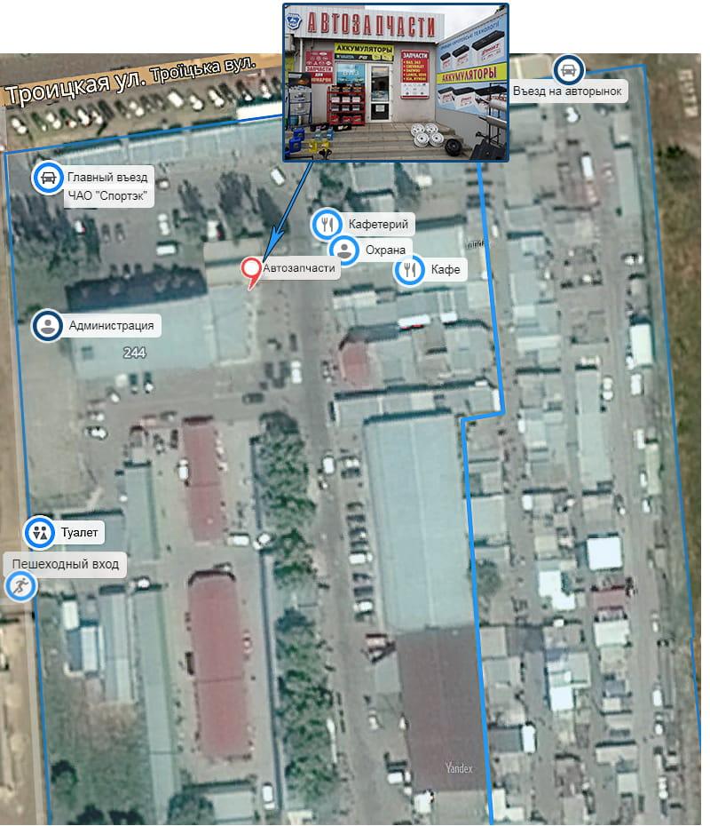 Переход на гугл-карту с магазинами которые торгуют запчастями для ходовой автомобизя