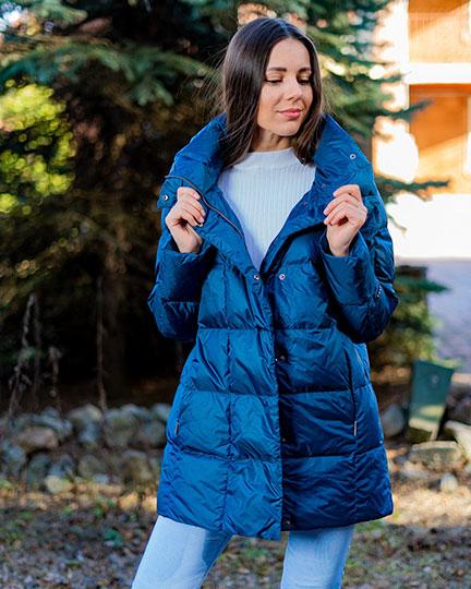 Легкий пуховик Joutsen Alma синего цвета