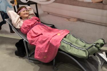 У посетителей выставки ВегМарт была уникальная возможность сделать лимфодренажный массаж бесплатно