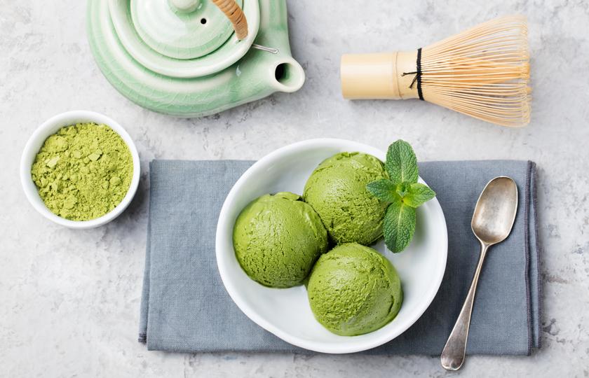 Рецепт мороженого с матча