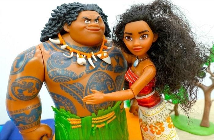 Игровой набор кукол Моана и Мауи - Приключения