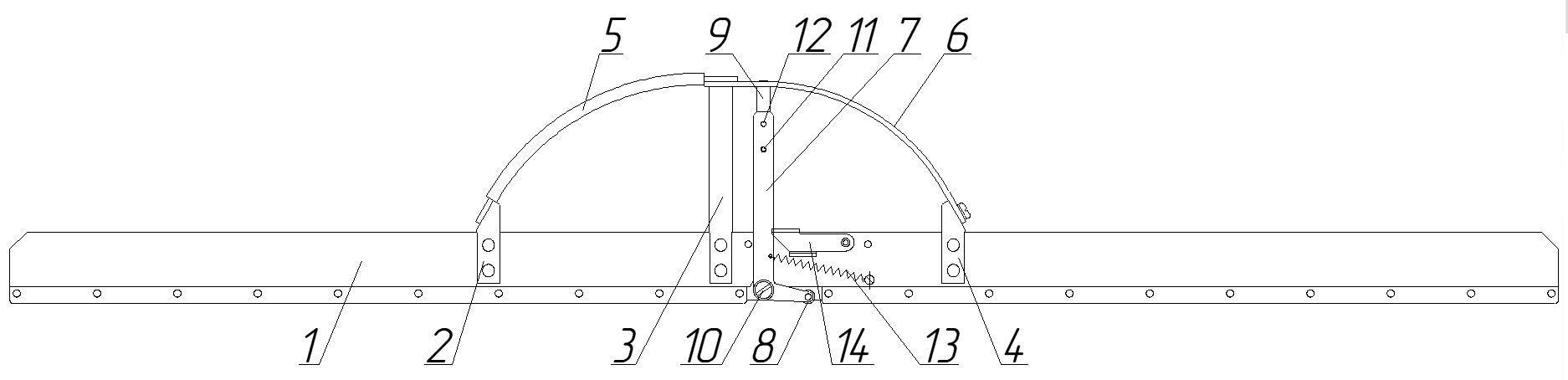 Приспособление для контроля глубины поверхностных дефектов рельсов модели ПИ-1000.00.00 аналог линейки Шестопалова шаблон 82904 РЖД