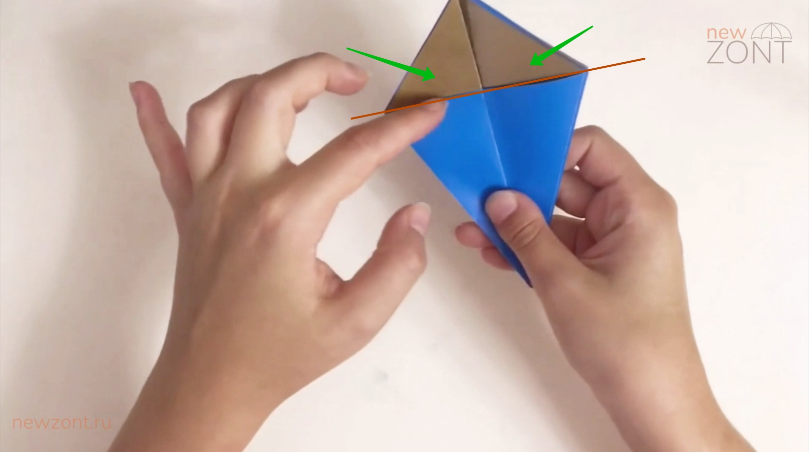 как сделать новогодний зонтик