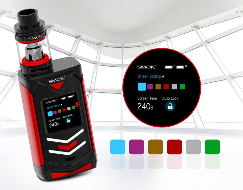 Настройки экрана боксмода SMOK Veneno