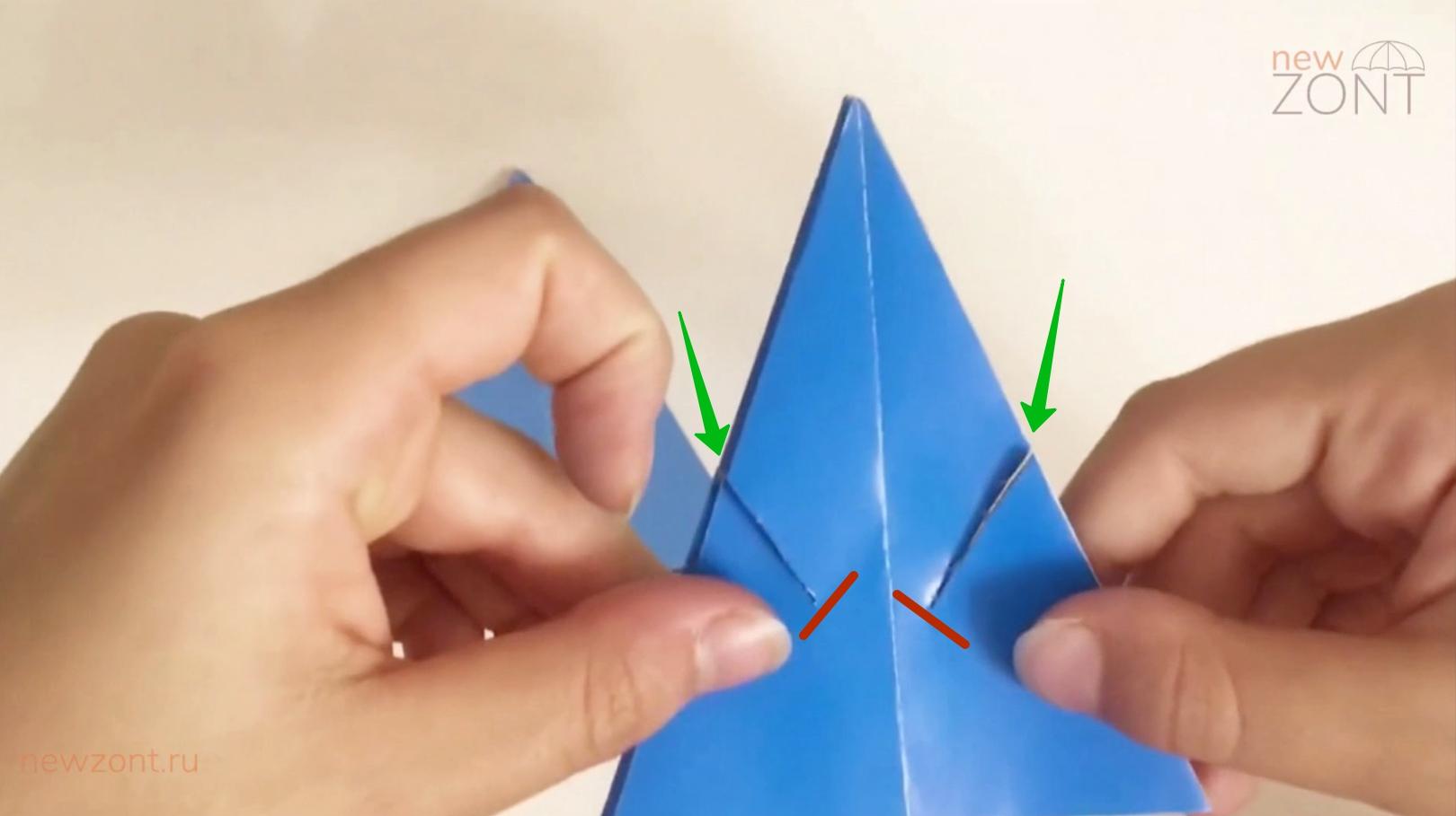 как сделать объемный зонтик
