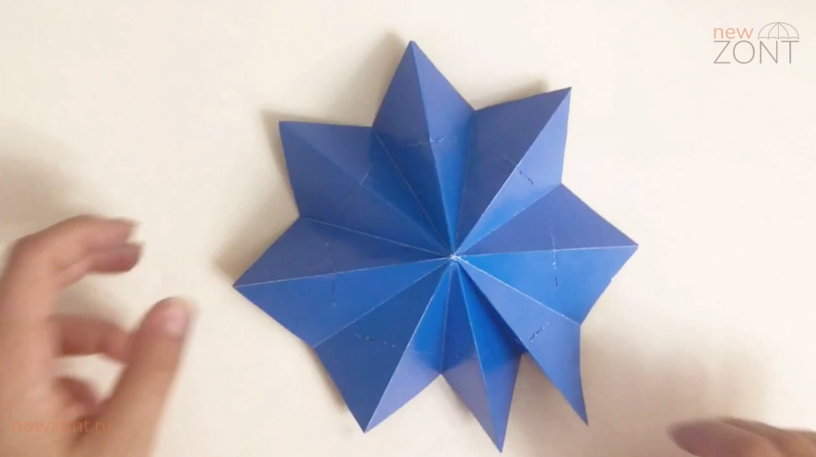 как сделать из картона зонтик