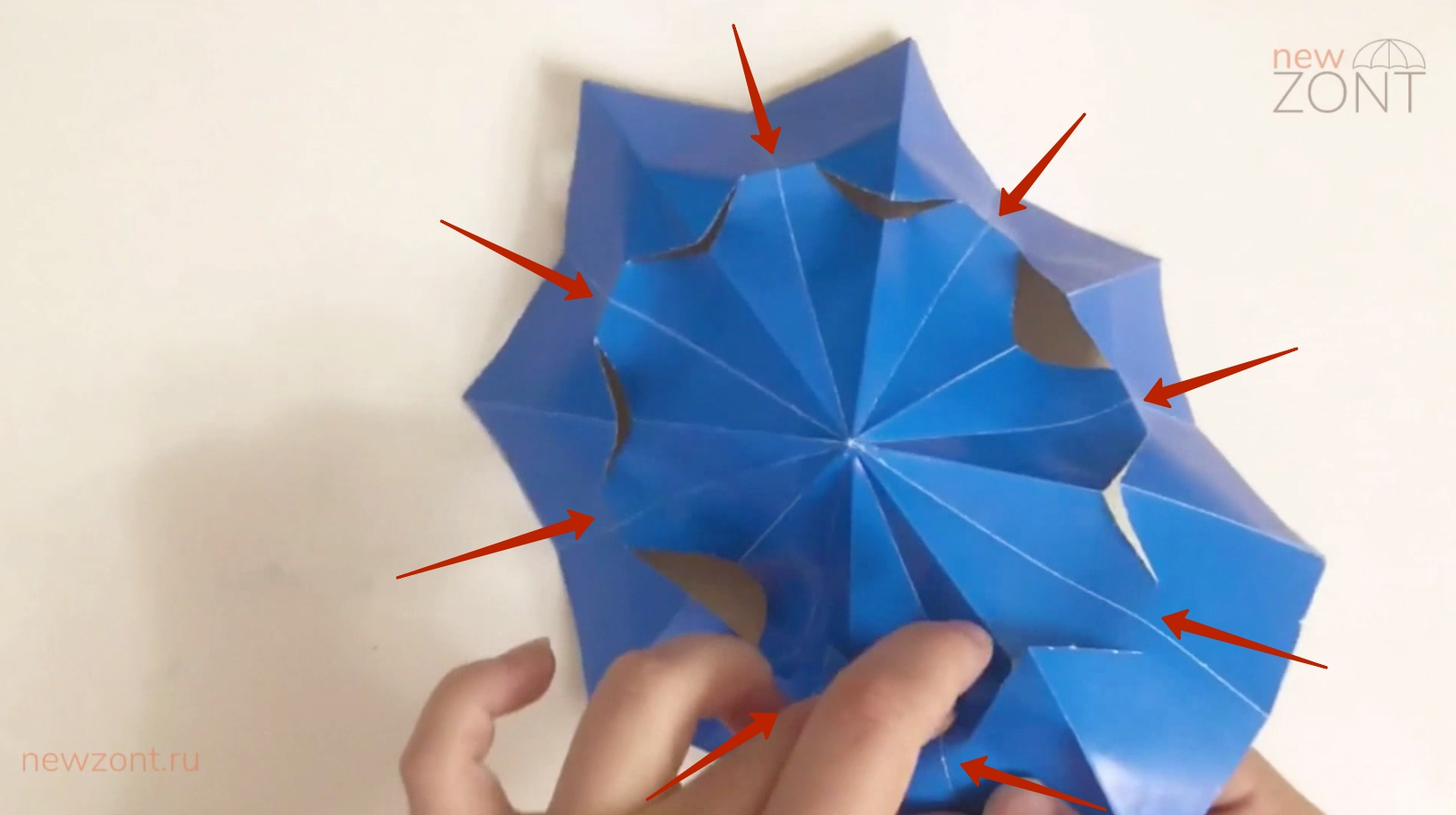 как сделать китайский зонтик