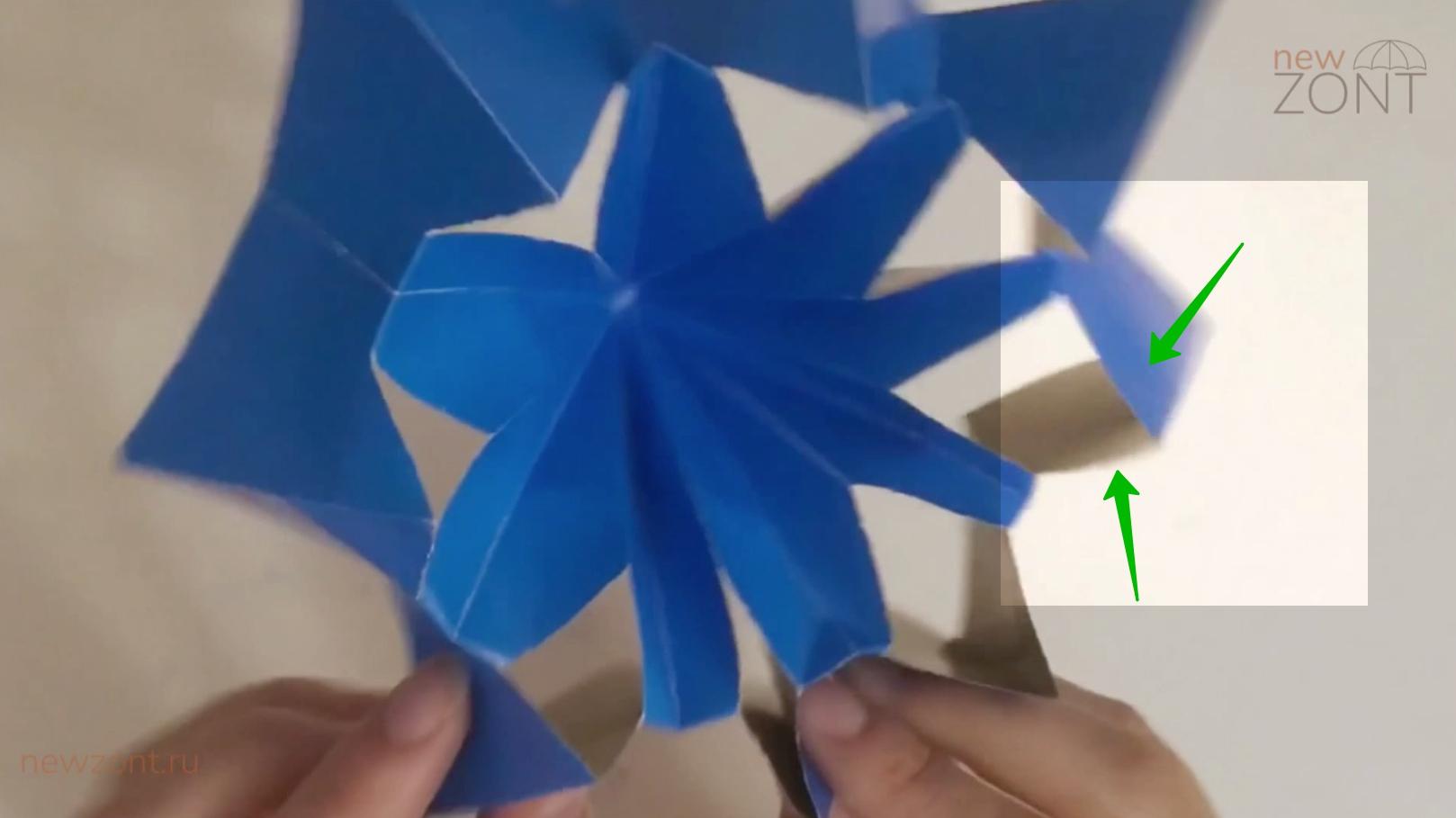 как сделать зонт из картона