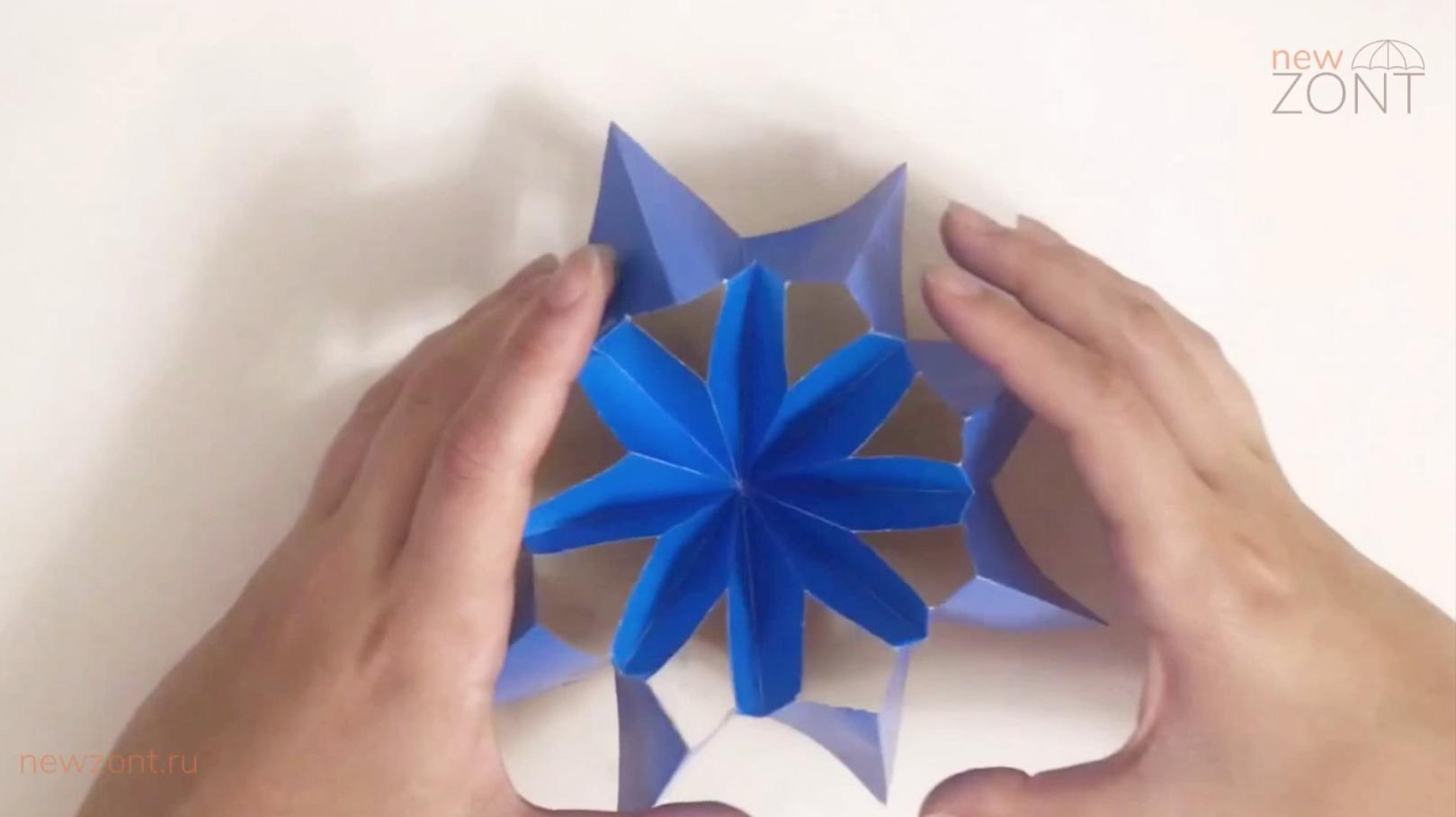как можно сделать зонтик из бумаги