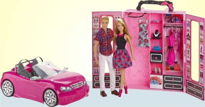 Эксклюзивный набор кукол Барби и Кена со шкафом и кабриолетом