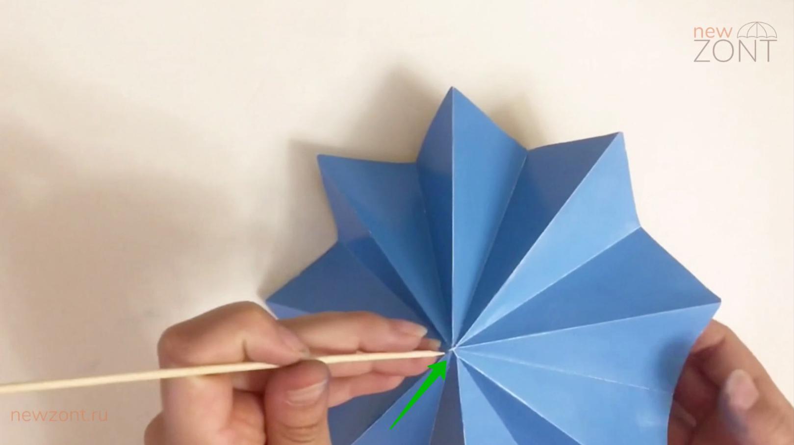 как сделать декоративный зонтик