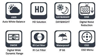 OSD меню видеокамеры CAICO