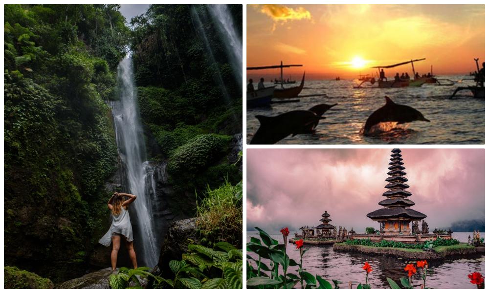 Север Бали: водопад Секумпуль, Ловина, дельфины, храм Улун Дану