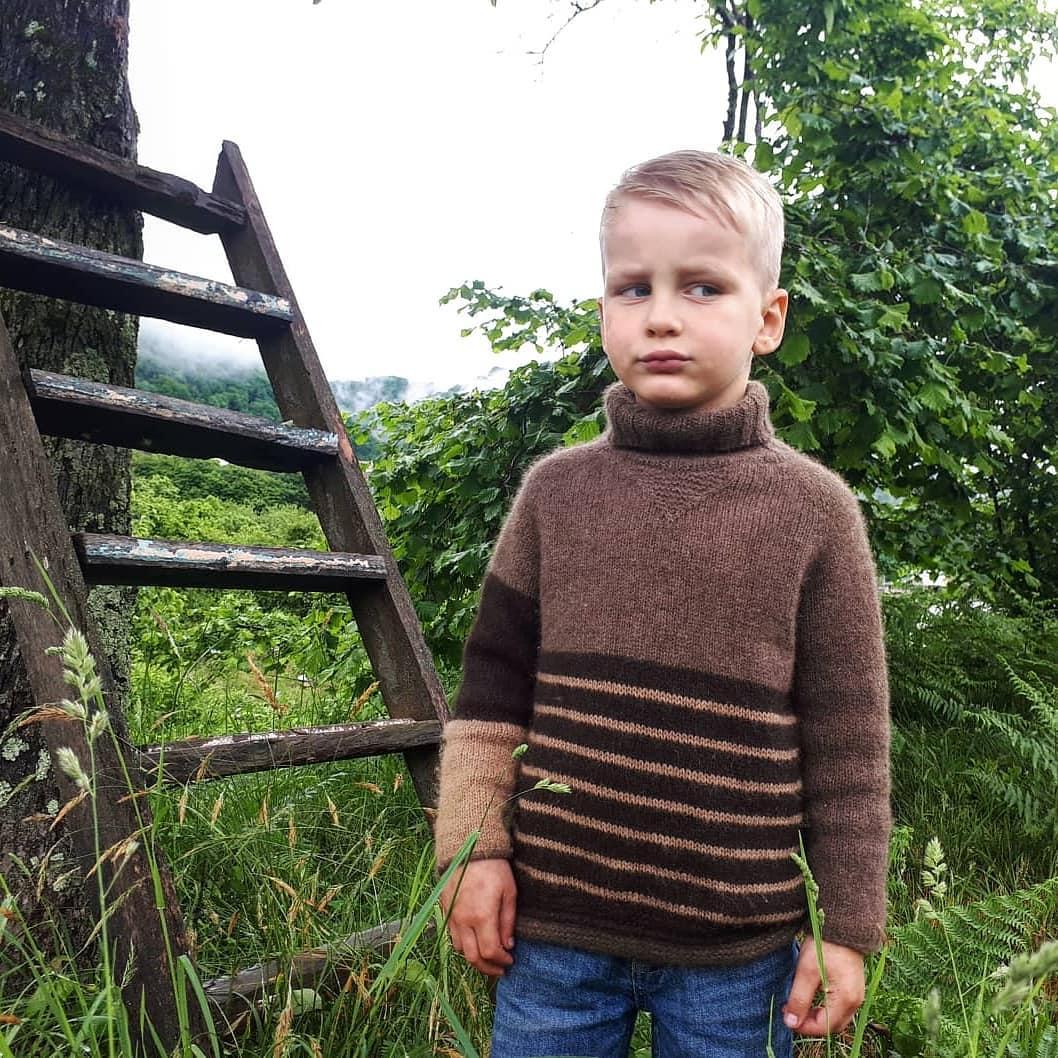 детский свитер из пуха яка sarlag
