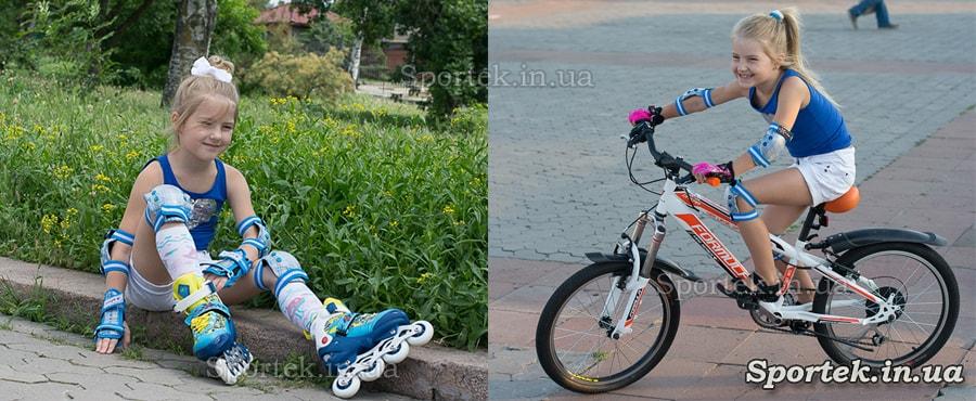 один Захист для дітей для роликових ковзанів і велосипеда