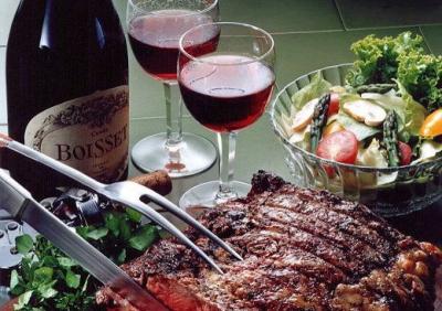 красное вино с мясом