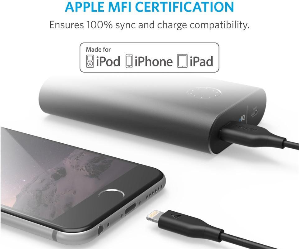 Anker Lightning to USB Premium Cable- Кабели для синхронизации Apple iPhone, iPad и iPod с разъёмом Lightning.