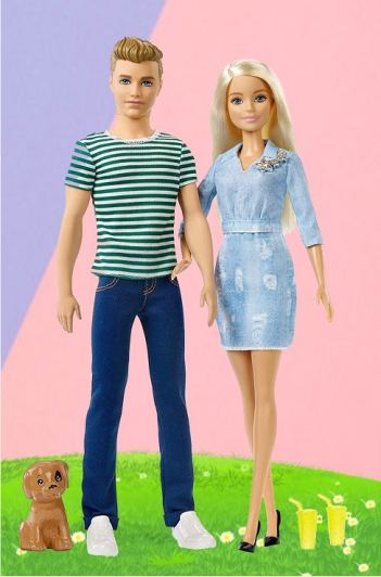 Набор кукол Барби и Кен - На прогулке с щенком