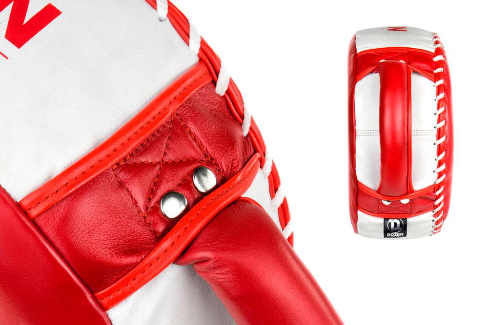 Круглая макивара Dozen Masters Pill красно-белая ручки и крепление к основе