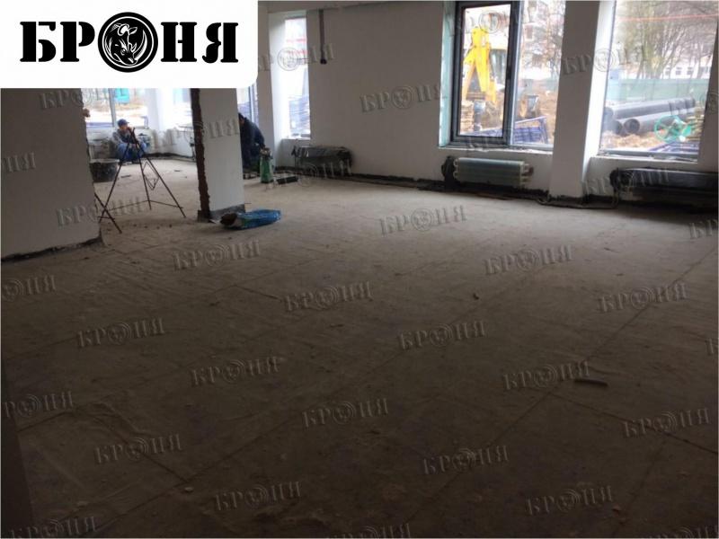 Московская область. Утепление бетонной стяжки детского сада под теплый пол в игровых комнатах