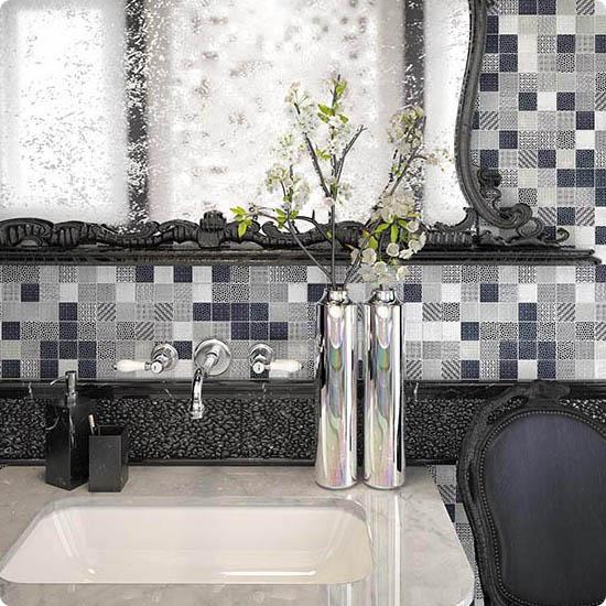 Модерн середины 20-го века (мидсенчури) в интерьере ванной